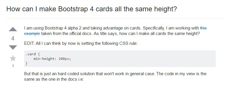 Insights on  precisely how can we  build Bootstrap 4 cards  all the same  height?