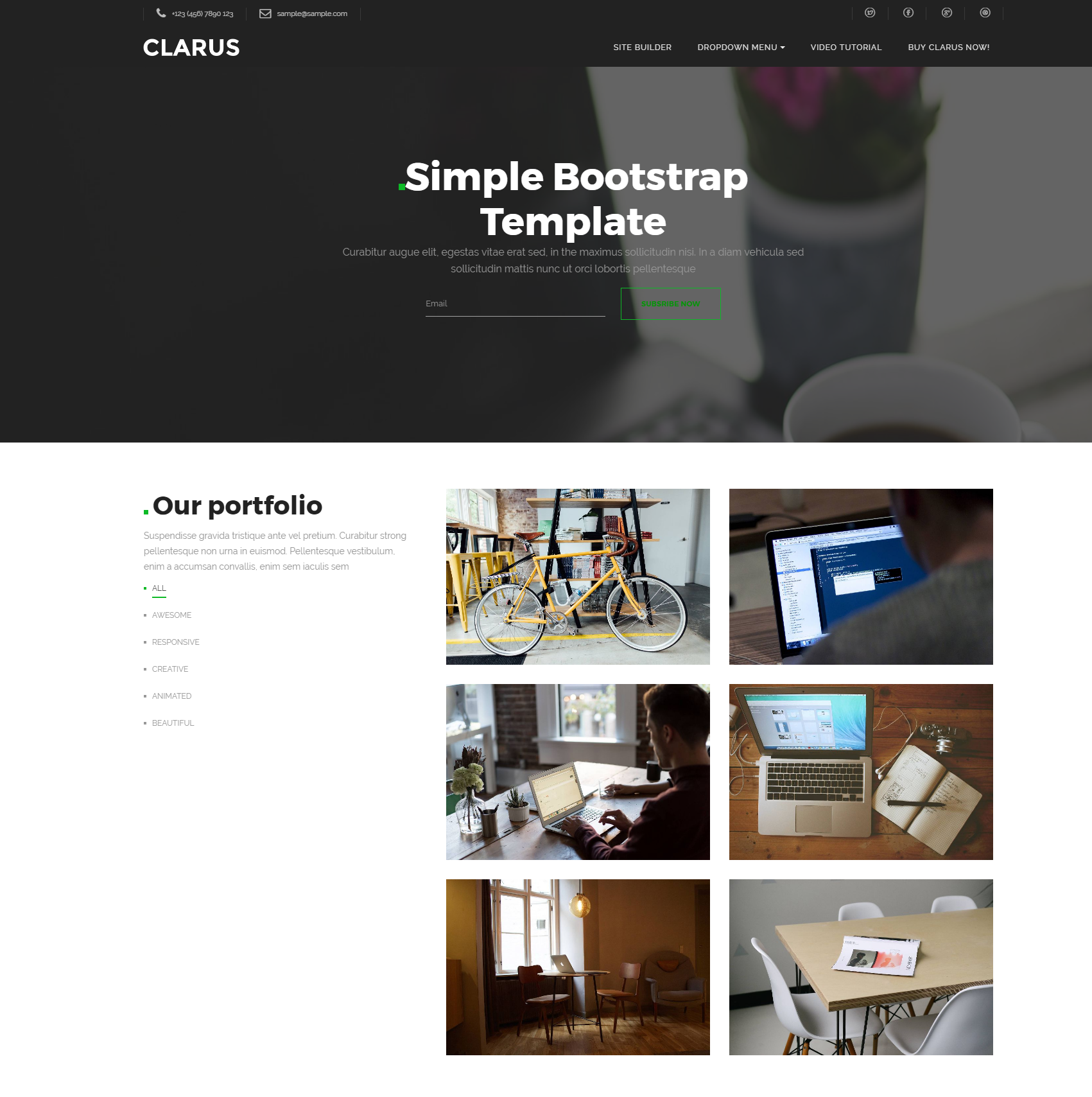 CSS3 Bootstrap Simple Templates