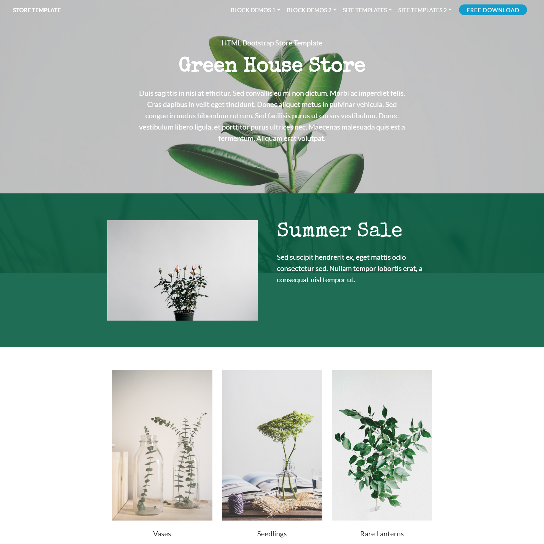 Free Download Bootstrap Store Themes
