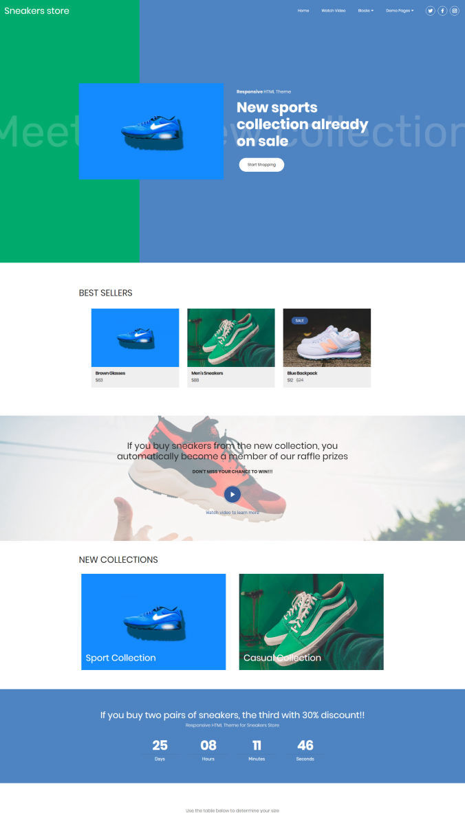 Online Store Website Template