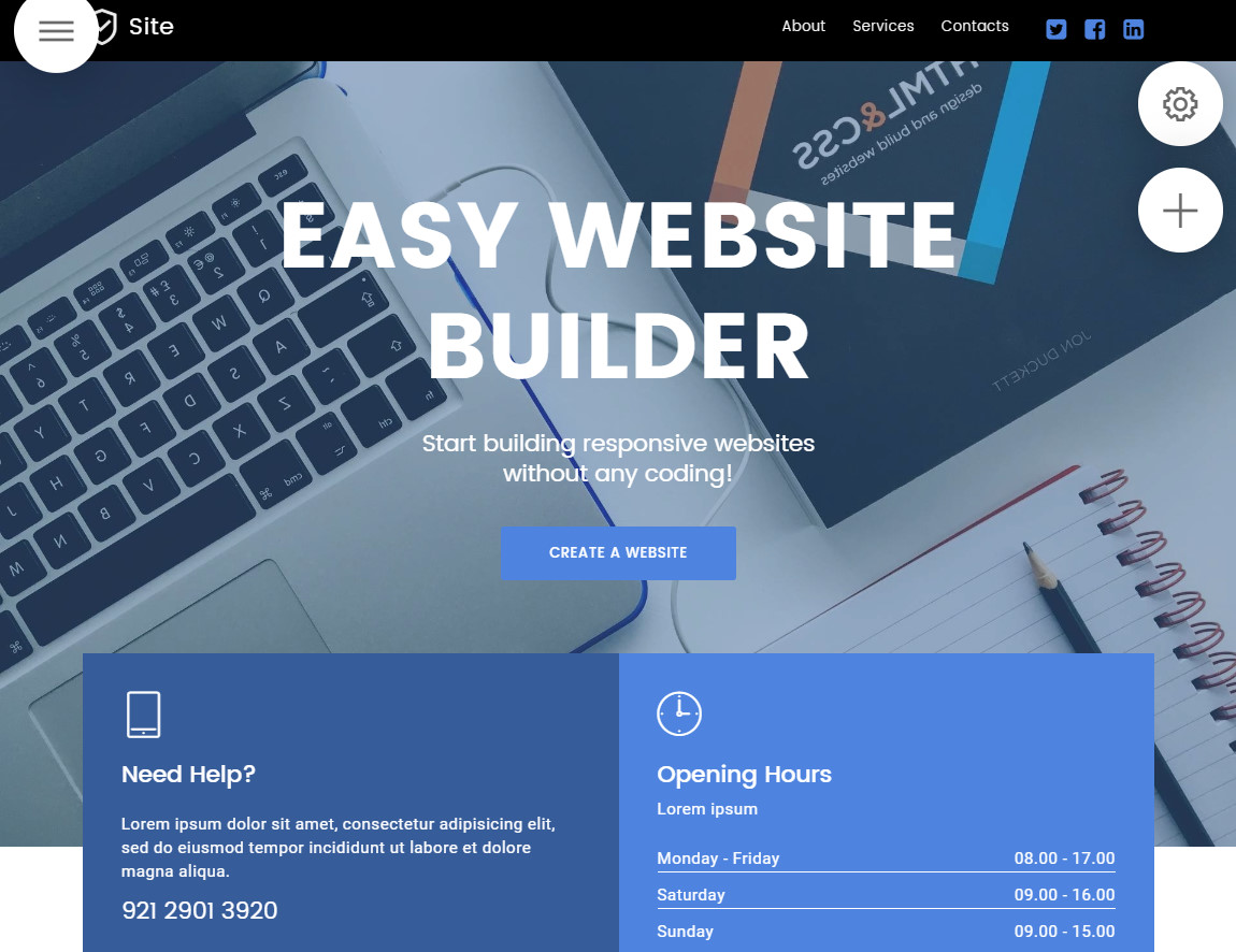 easy website builder